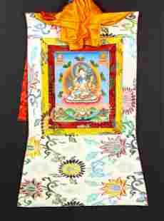 Himalayan thangka of White Tara
