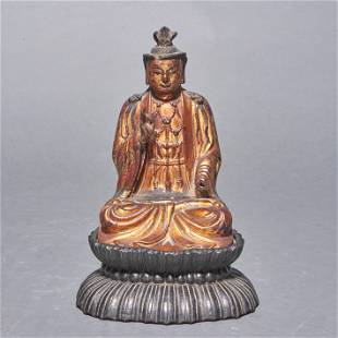 Chinese gilt lacquered figure of Buddha