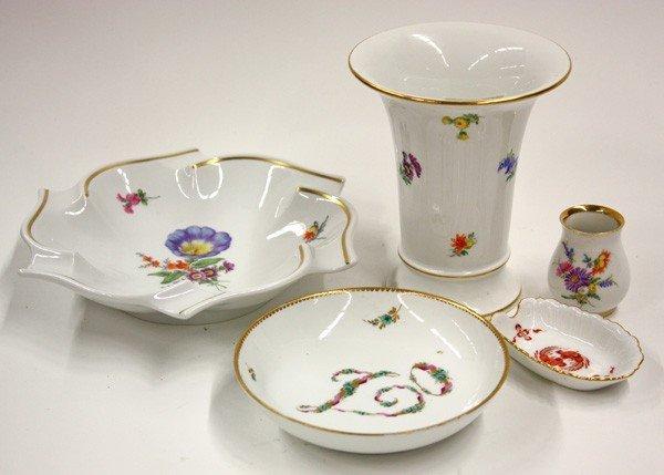 2010: Group of Meissen porcelain