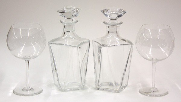 2021: Baccarat stemware and decanters