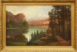2178: Painting, Joseph John Englehart, Vast Landscape M