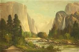 2182: Painting, John Englehart, Yosemite Landscape