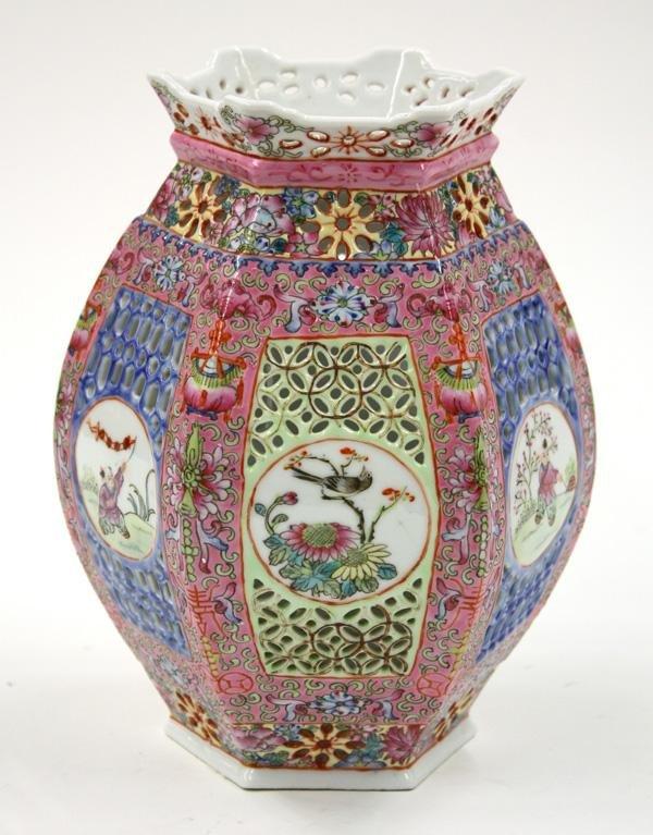 23: Enameled Chinese Porcelain Lantern