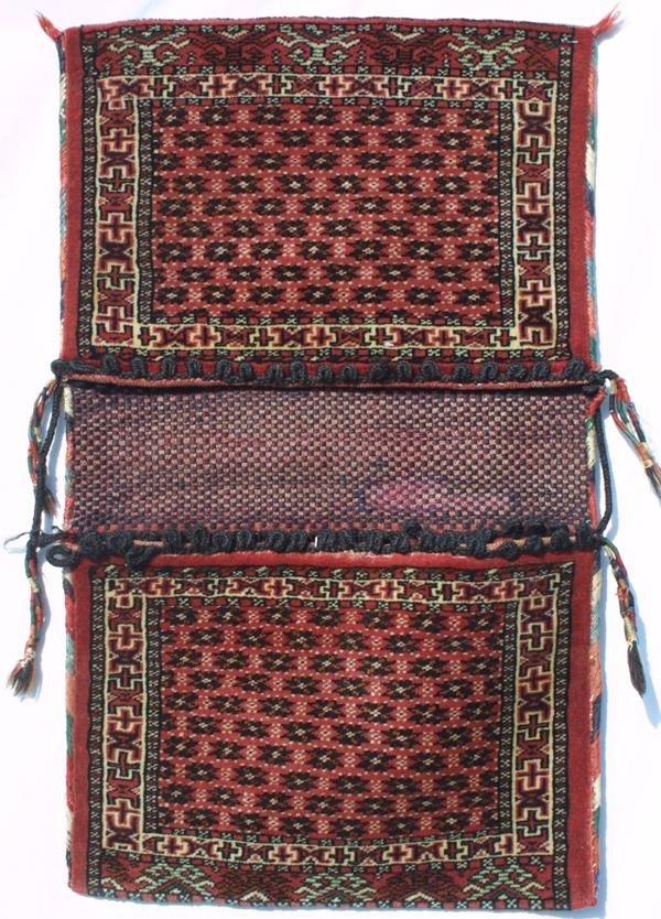 8: Yomut complete saddle bag