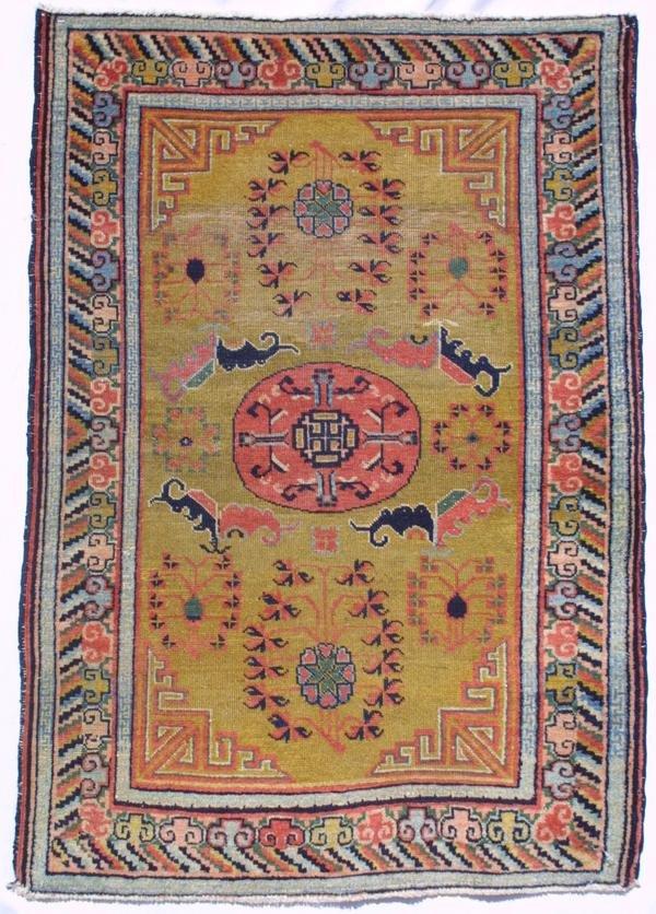 9: Chinese Kansu small rug