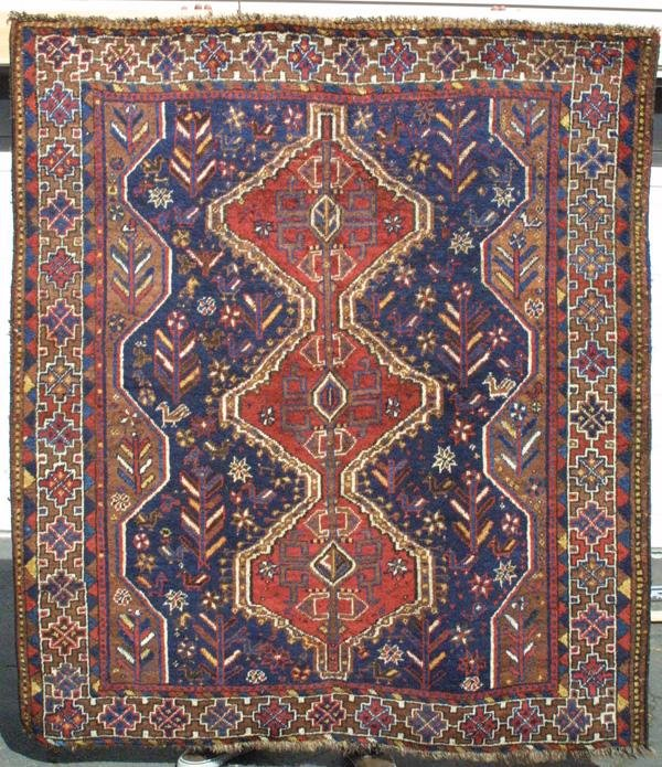 14: Khamseh medallion rug