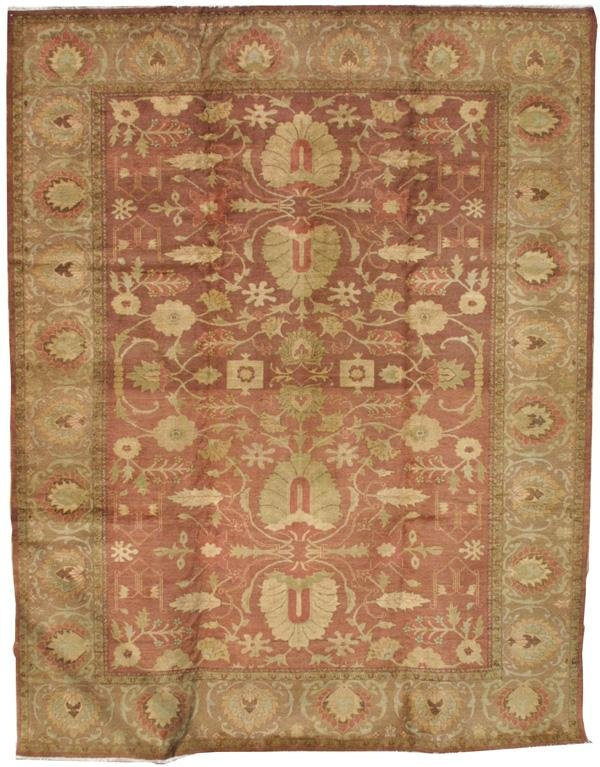 20: Persian Sultanabad vegetable dyed carpet