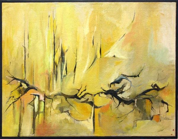 3001: Painting, P. Peters, Abstract Composition
