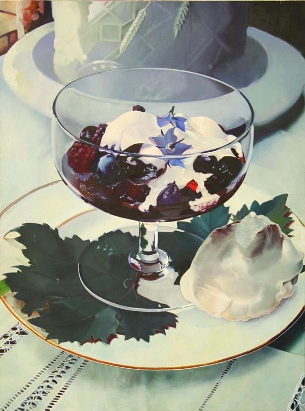 3004: Painting, Marlene McLoughlin, Blue Food