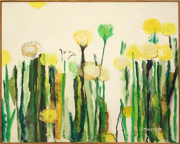 3005: Painting, R. Lieberman, Flowers