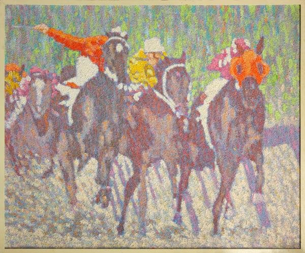 3007: Painting, Henry Benson, Horse Race