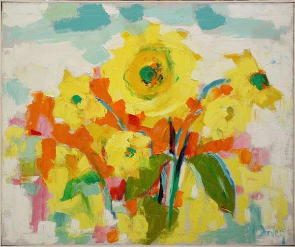 3012: Painting, Helen Bertha Dooley, Sunflowers