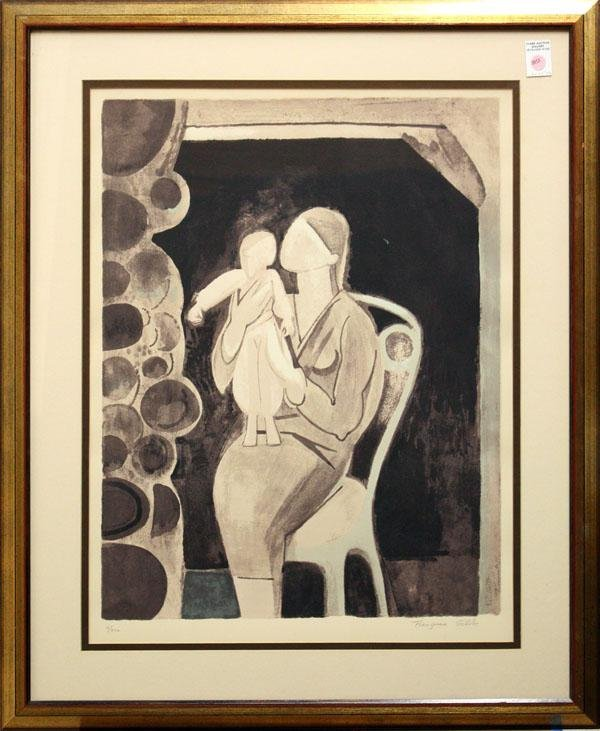 3013: Print, Francoise Gilot, Mother and Child