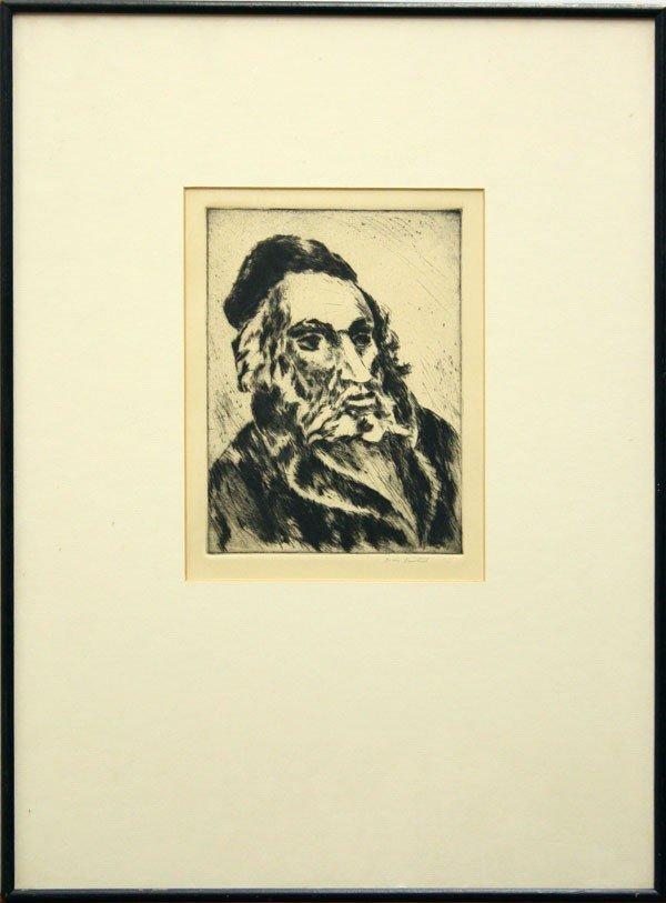 3015: Print, Boris Deutsch, Portrait of a Rabbi