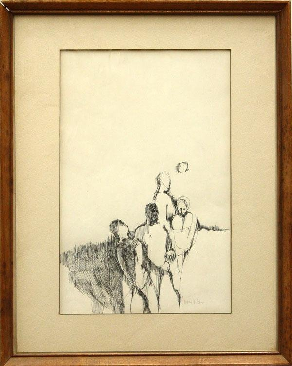 3017: Drawing, Mary Riker, Figural Group