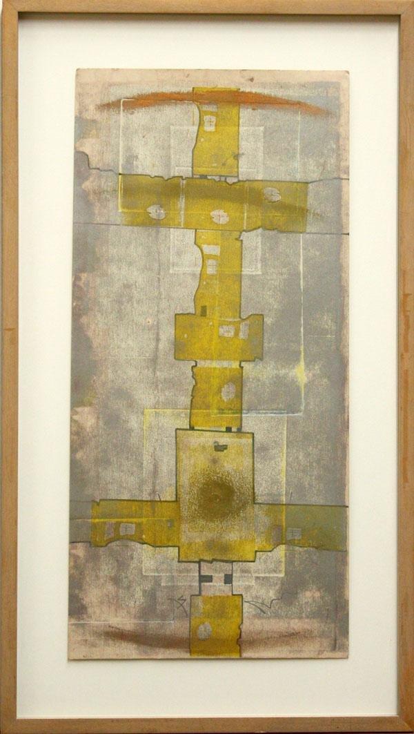 3020: Mixed media, M. Polakov, Abstract Compositions
