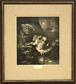 3180 Print after Sir Edwin Henry Landseer Cats Paw