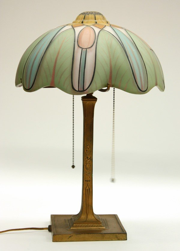 6022: Pairpoint Reverse Painted Table Lamp