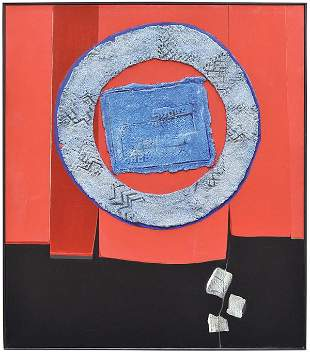 6258: Oil/mixed media, Enrico Donati, Curtain Call VII