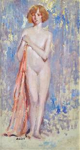 6274: Painting, Alson Skinner Clark, Nude of a Woman