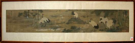 6588 Chinese Scroll Bian Jingzhao after Cranes