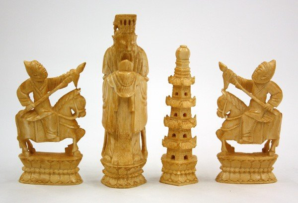 4003: Chinese Ivory Figural Carvings
