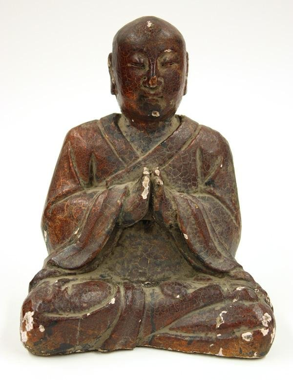 4006: Chinese Lacquered Wood Luohan Figure