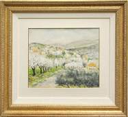 4380: Gouaches, Pierre Petitfour, Town in the Hills