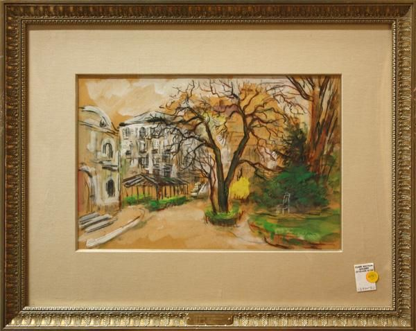 4383: Gouaches, Pierre Petitfour, Baren Park Tree