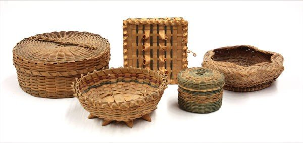 2015: Native American basketry items