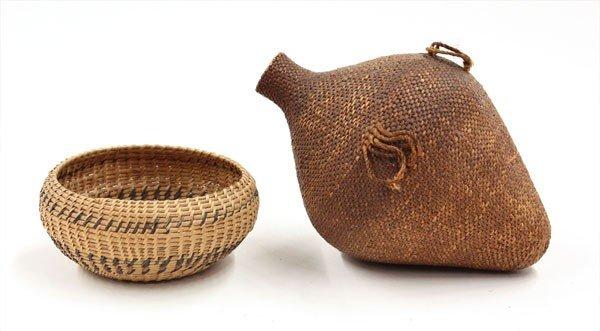 2019: Native American Paiute woven baskets
