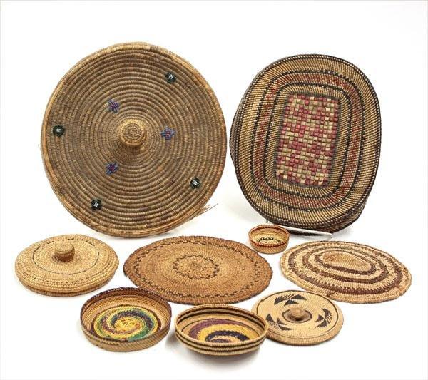 2022: Native American basketry lids