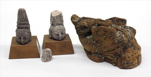 1: East Indian Wood and Stone Carving