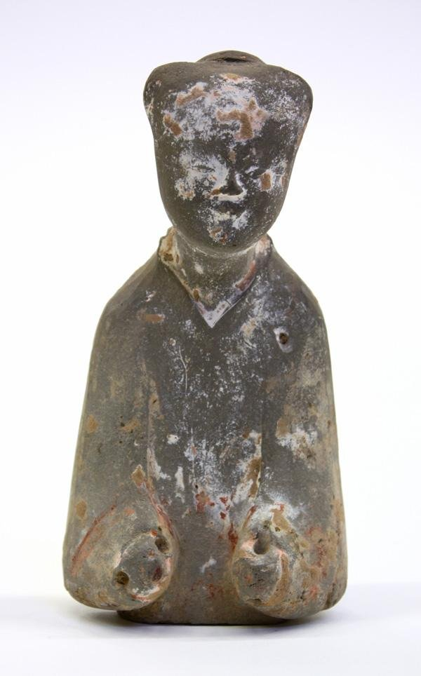 7: Chinese Han Dynasty Gray Pottery Figure