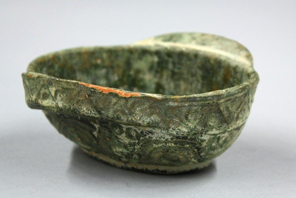 9: Chinese Han Dynasty Glazed Ceramic Ear Cup