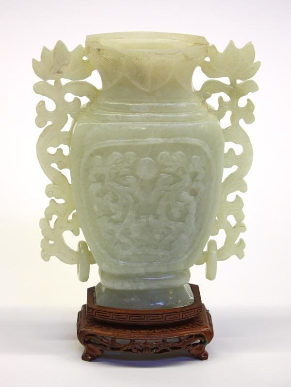 13: Chinese Green Hardstone Urn