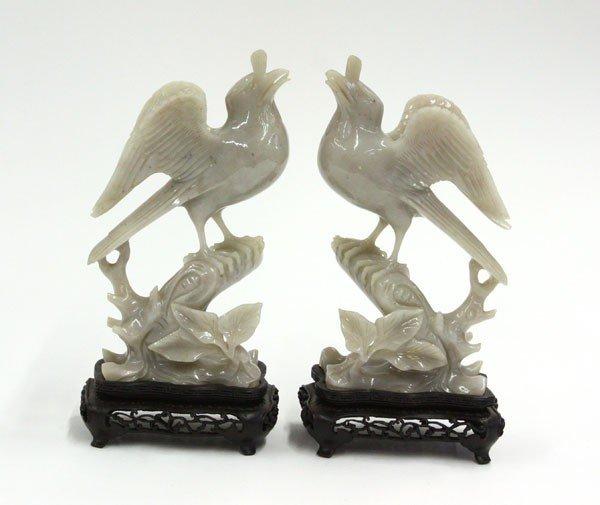 15: Chinese Hardstone Bird Carvings