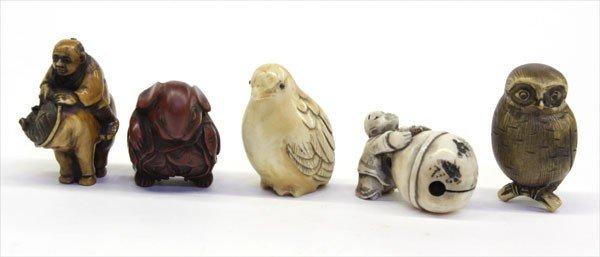 17: Japanese Ivory and Composition Netsuke