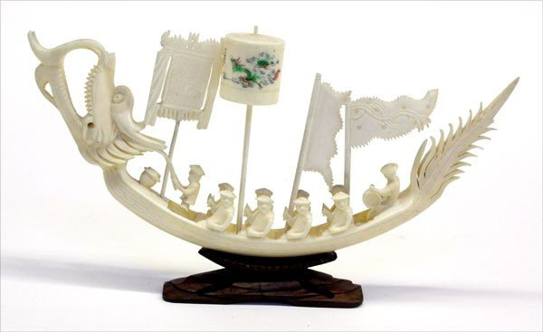 18: Chinese Ivory Dragon Boat
