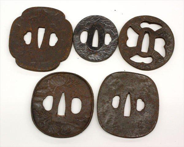 20: Five Japanese Iron Tsuba