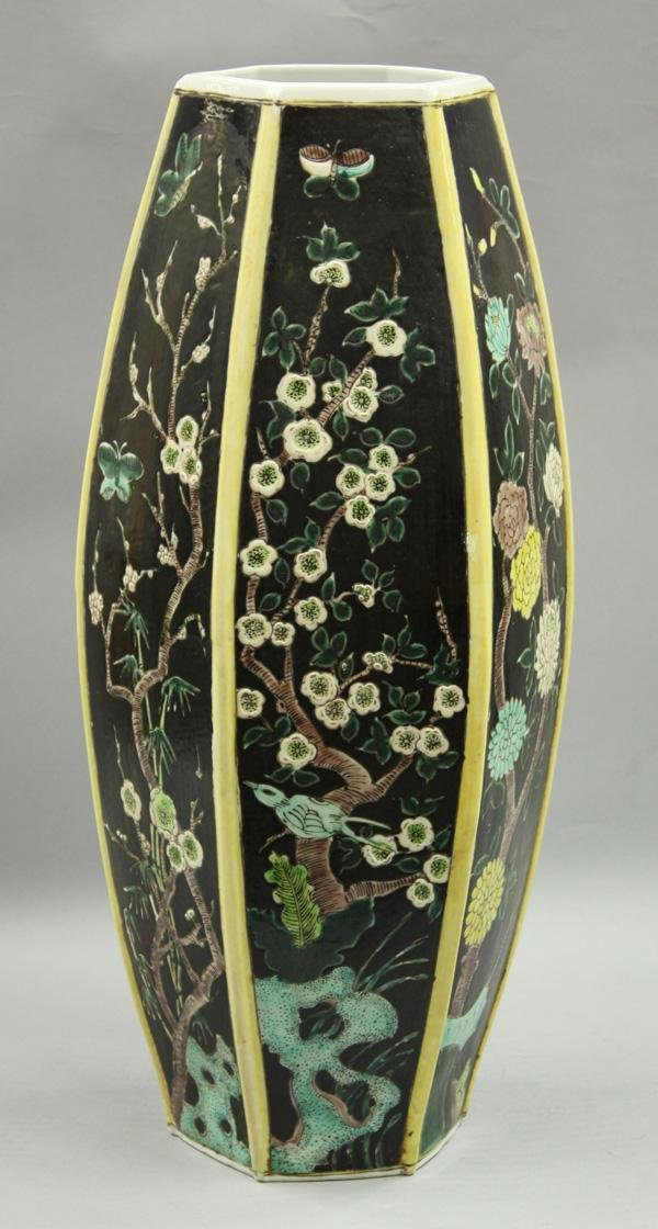 23: Chinese Famille Noire Vase