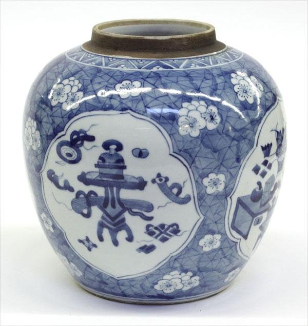 25: Blue-and-White Chinese Porcelain Jar