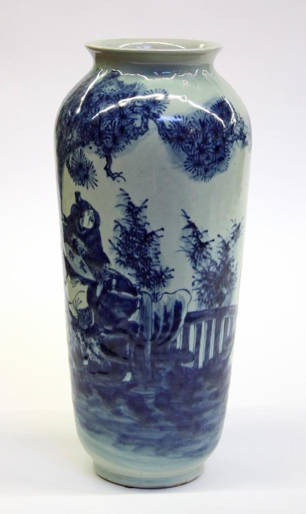 42: Chinese Blue-and-White Porcelain Vase