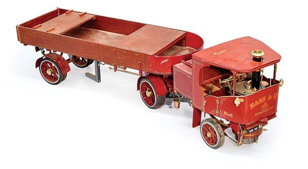 232: Flatbed Clayton Bass steam wagon 2 inch scale