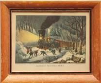426 Print American Railroad Scene