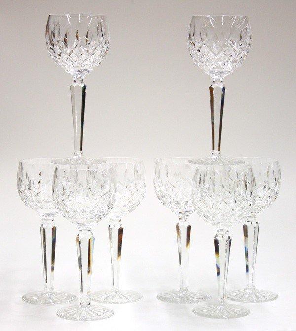 6005: Waterford vintage Lismore hock wine glasses