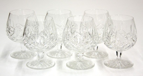 6014: Waterford Lismore, crystal brandy glasses
