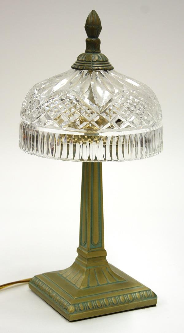 Waterford crystal umbrella and brass table lamp 6019 waterford crystal umbrella and brass table lamp geotapseo Images