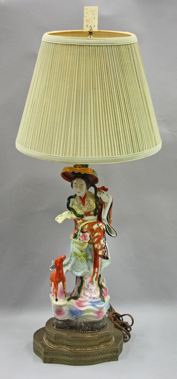 4008: Chinese Porcelain Figure/Lamp