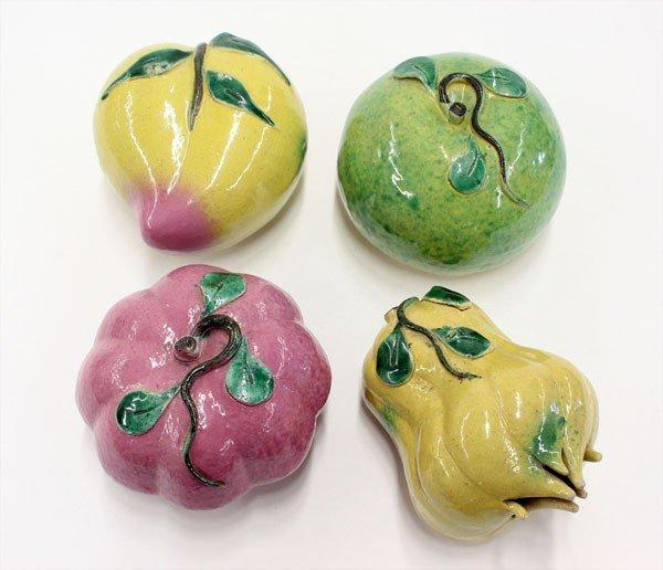4016: Chinese Enameled Porcelain Fruits